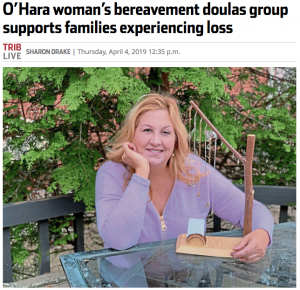 TRIB Live article about Pittsburgh Bereavement Doulas